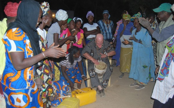 Party in a village, Gambia